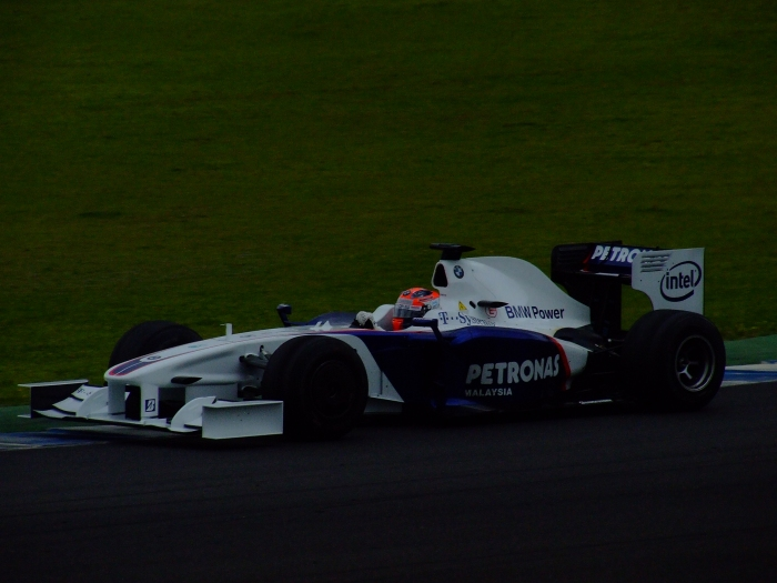 Kubica in the KERS-equipped BMW Sauber