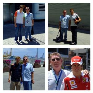 Tony with Formula 1 drivers