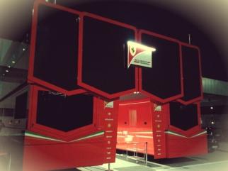 Ferrari castle at night