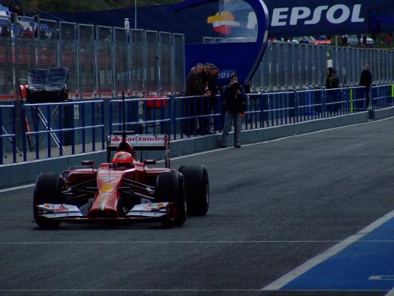 Iceman freezes over - F1 testing
