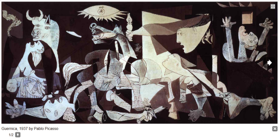 Screen grab from pablopicasso.org - Guernica