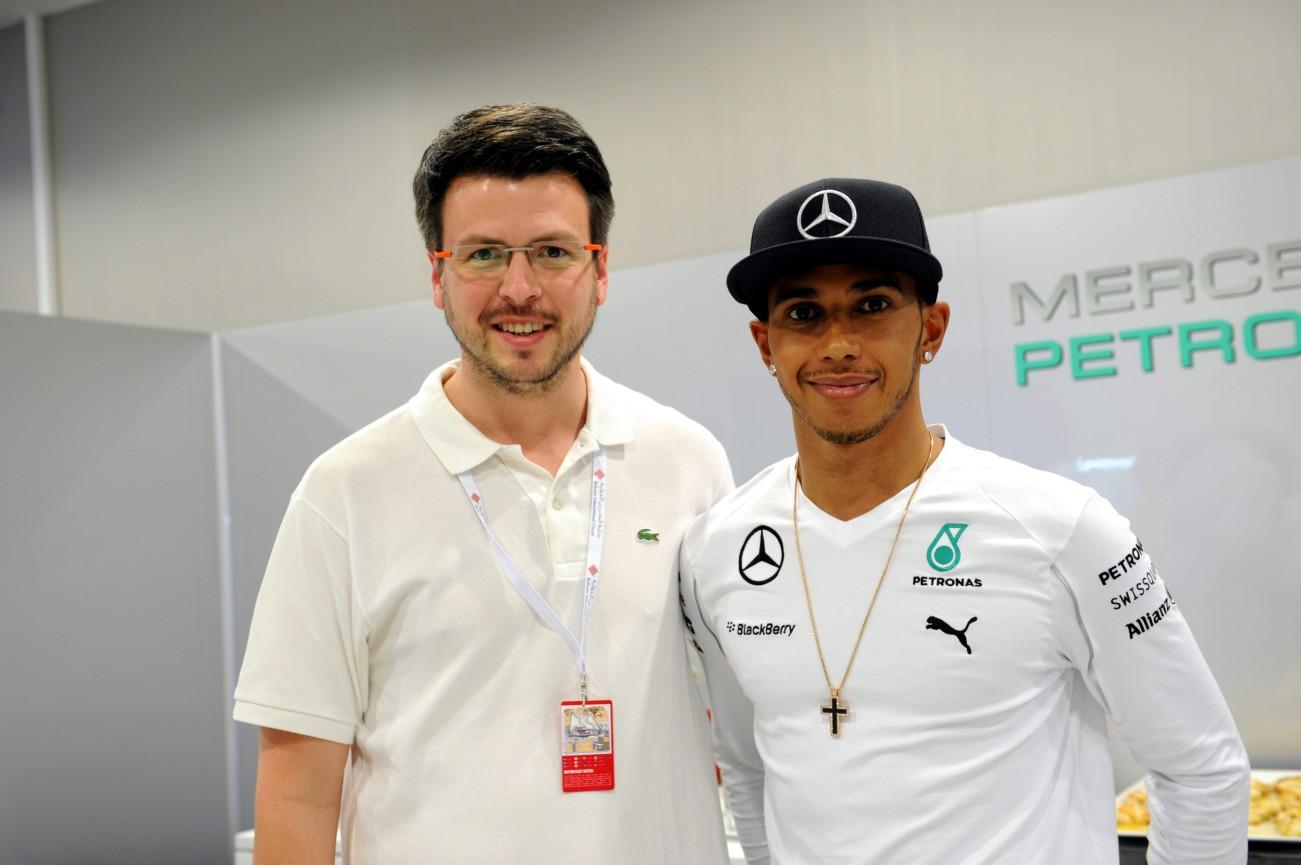 @DMerinoF1 & Lewis Hamilton