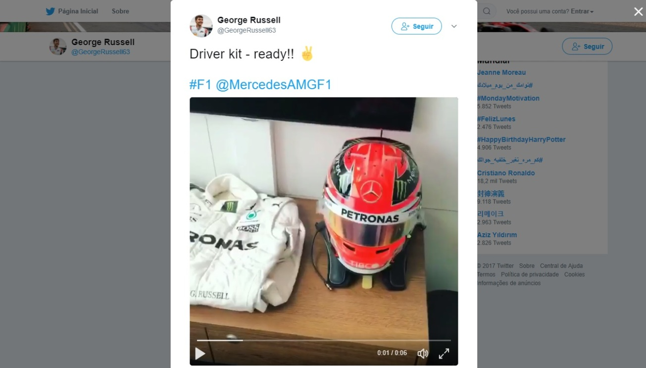 Screen grab @GeorgeRussell63