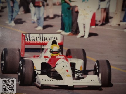 No kidding: it's Senna who used to drive this car!