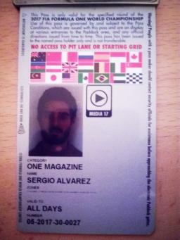 Sergio on motorsport