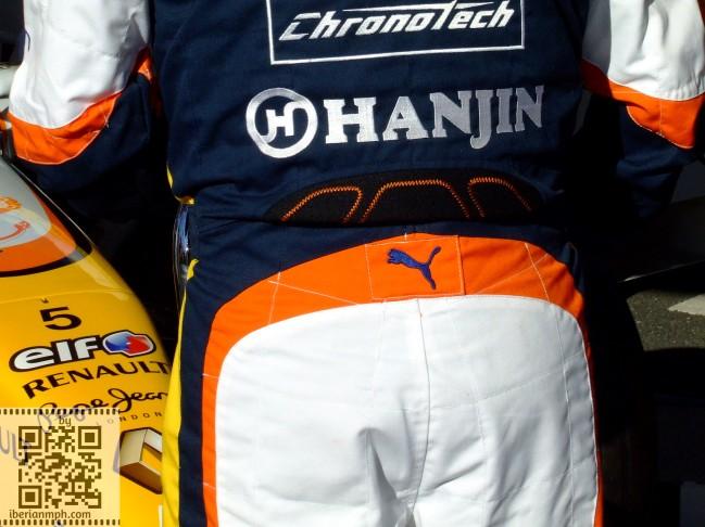 Dummy F1 life: fake Renault F1 mechanic's rear end