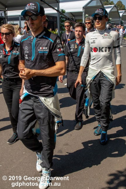 Robert Kubica (#88) and George Russell of the Williams Formula 1 team in the paddock on Sunday of the 2019 Australian Grand Prix weekend. -------------------------------------------------- Photo taken by me - GDPHOTOS.COM.AU Sunday 17 March 19 Canon EOS 6D Mark II EF24-105mm f/4L IS USM @ 35mm 1/500 sec @ f13 1000 ISO Please credit if sharing -------------------------------------------------