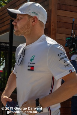 Valtteri Bottas (#77) of the Mercedes Formula 1 team in the paddock on Sunday of the 2019 Australian Grand Prix weekend. -------------------------------------------------- Photo taken by me - GDPHOTOS.COM.AU Sunday 17 March 19 Canon EOS 6D Mark II EF24-105mm f/4L IS USM @ 80mm 1/500 sec @ f16 1000 ISO Please credit if sharing -------------------------------------------------