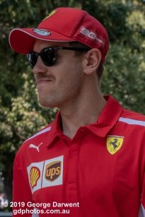 Sebastian Vettel (#5) of the Ferrari Formula 1 team in the paddock on Sunday of the 2019 Australian Grand Prix weekend. -------------------------------------------------- Photo taken by me - GDPHOTOS.COM.AU Sunday 17 March 19 Canon EOS 6D Mark II EF24-105mm f/4L IS USM @ 90mm 1/500 sec @ f10 1000 ISO Please credit if sharing -------------------------------------------------