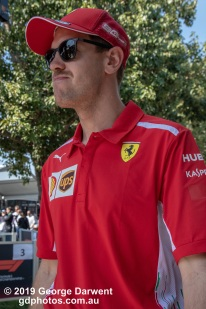Sebastian Vettel (#5) of the Ferrari Formula 1 team in the paddock on Sunday of the 2019 Australian Grand Prix weekend. -------------------------------------------------- Photo taken by me - GDPHOTOS.COM.AU Sunday 17 March 19 Canon EOS 6D Mark II EF24-105mm f/4L IS USM @ 47mm 1/500 sec @ f9 1000 ISO Please credit if sharing -------------------------------------------------