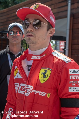 Charles Leclerc (#16) of the Ferrari Formula 1 team in the paddock on Sunday of the 2019 Australian Grand Prix weekend. -------------------------------------------------- Photo taken by me - GDPHOTOS.COM.AU Sunday 17 March 19 Canon EOS 6D Mark II EF24-105mm f/4L IS USM @ 70mm 1/500 sec @ f9 1000 ISO Please credit if sharing -------------------------------------------------