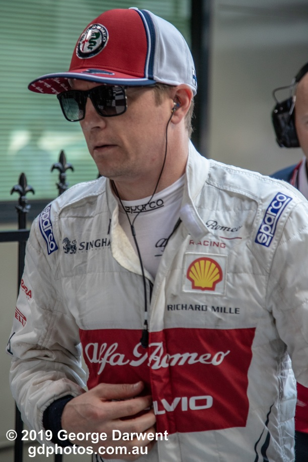 Kimi Raikkonen (#7) of the Alfa Romeo Racing Formula 1 team in the paddock on Sunday of the 2019 Australian Grand Prix weekend. -------------------------------------------------- Photo taken by me - GDPHOTOS.COM.AU Sunday 17 March 19 Canon EOS 6D Mark II EF24-105mm f/4L IS USM @ 105mm 1/500 sec @ f5 1000 ISO Please credit if sharing -------------------------------------------------