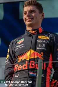 Max Verstappen (#33) of the Red Bull Formula 1 team on the podium of the 2019 Australian Grand Prix weekend. -------------------------------------------------- Photo taken by me - GDPHOTOS.COM.AU Sunday 17 March 19 Canon EOS 6D Mark II EF100-400mm f/4.5-5.6L IS II USM +1.4x III @ 390mm 1/2500 sec @ f7 1000 ISO Please credit if sharing -------------------------------------------------