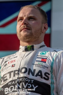 Valtteri Bottas (#77) of the Mercedes Formula 1 team on the podium of the 2019 Australian Grand Prix weekend. -------------------------------------------------- Photo taken by me - GDPHOTOS.COM.AU Sunday 17 March 19 Canon EOS 6D Mark II EF100-400mm f/4.5-5.6L IS II USM +1.4x III @ 560mm 1/2500 sec @ f8 1000 ISO Please credit if sharing -------------------------------------------------