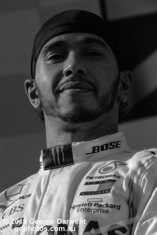 Lewis Hamilton (#44) of the Mercedes Formula 1 team on the podium of the 2019 Australian Grand Prix weekend. -------------------------------------------------- Photo taken by me - GDPHOTOS.COM.AU Sunday 17 March 19 Canon EOS 6D Mark II EF100-400mm f/4.5-5.6L IS II USM +1.4x III @ 560mm 1/2500 sec @ f13 1000 ISO Please credit if sharing -------------------------------------------------