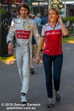 Antonio Giovinazzi (#99) of the Alfa Romeo Racing Formula 1 team in the paddock on Saturday of the 2019 Australian Grand Prix weekend. -------------------------------------------------- Photo taken by me - GDPHOTOS.COM.AU Saturday 16 March 19 Canon EOS 6D Mark II EF24-105mm f/4L IS USM @ 65mm 1/500 sec @ f5.6 1000 ISO Please credit if sharing -------------------------------------------------