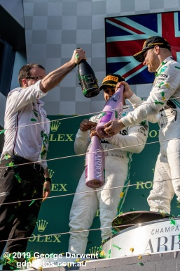 The Mercedes Formula 1 team on the podium of the 2019 Australian Grand Prix weekend. -------------------------------------------------- Photo taken by me - GDPHOTOS.COM.AU Sunday 17 March 19 Canon EOS 6D Mark II EF100-400mm f/4.5-5.6L IS II USM +1.4x III @ 160mm 1/1250 sec @ f11 1000 ISO Please credit if sharing -------------------------------------------------
