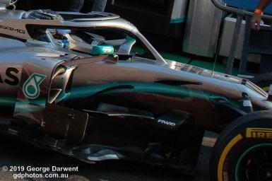 Valtteri Bottas (#77) of the Mercedes Formula 1 team celebrates winning the 2019 Australian Grand Prix. -------------------------------------------------- Photo taken by me - GDPHOTOS.COM.AU Sunday 17 March 19 Canon EOS 6D Mark II EF24-105mm f/4L IS USM @ 24mm 1/800 sec @ f9 1000 ISO Please credit if sharing -------------------------------------------------