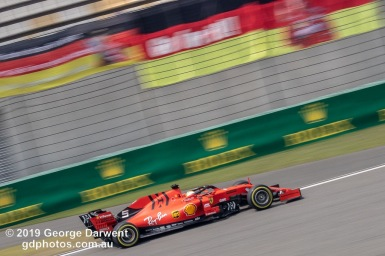 Sebastian Vettel (#5) of the Ferrari Formula 1 team out on track during the 2019 Chinese Grand Prix weekend. -------------------------------------------------- Photo taken by me - GDPHOTOS.COM.AU Friday 12 April 19 Canon EOS 6D Mark II EF100-400mm f/4.5-5.6L IS II USM +1.4x III @ 230mm 1/125 sec @ f22 500 ISO Please credit if sharing -------------------------------------------------