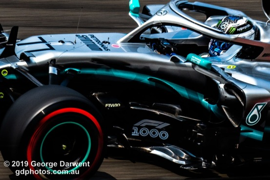 Valtteri Bottas (#77) of the Mercedes Formula 1 team out on track during the 2019 Chinese Grand Prix weekend. -------------------------------------------------- Photo taken by me - GDPHOTOS.COM.AU Friday 12 April 19 Canon EOS 6D Mark II EF100-400mm f/4.5-5.6L IS II USM +1.4x III @ 280mm 1/125 sec @ f25 500 ISO Please credit if sharing -------------------------------------------------