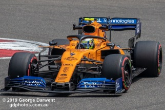 Lando Norris (#4 ) of the McLaren Formula 1 team out on track during the 2019 Chinese Grand Prix weekend. -------------------------------------------------- Photo taken by me - GDPHOTOS.COM.AU Friday 12 April 19 Canon EOS 6D Mark II EF100-400mm f/4.5-5.6L IS II USM +1.4x III @ 560mm 1/640 sec @ f11 500 ISO Please credit if sharing -------------------------------------------------