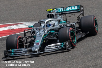 Valtteri Bottas (#77) of the Mercedes Formula 1 team out on track during the 2019 Chinese Grand Prix weekend. -------------------------------------------------- Photo taken by me - GDPHOTOS.COM.AU Friday 12 April 19 Canon EOS 6D Mark II EF100-400mm f/4.5-5.6L IS II USM +1.4x III @ 476mm 1/640 sec @ f13 500 ISO Please credit if sharing -------------------------------------------------