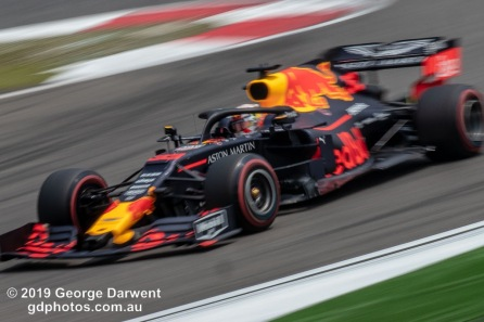 Max Verstappen (#33) of the Red Bull Formula 1 team out on track during the 2019 Chinese Grand Prix weekend. -------------------------------------------------- Photo taken by me - GDPHOTOS.COM.AU Friday 12 April 19 Canon EOS 6D Mark II EF100-400mm f/4.5-5.6L IS II USM +1.4x III @ 401mm 1/30 sec @ f51 500 ISO Please credit if sharing -------------------------------------------------