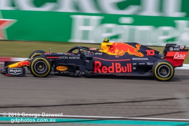 Pierre Gasly (#10) of the Red Bull Formula 1 team out on track during the 2019 Chinese Grand Prix weekend. -------------------------------------------------- Photo taken by me - GDPHOTOS.COM.AU Friday 12 April 19 Canon EOS 6D Mark II EF100-400mm f/4.5-5.6L IS II USM +1.4x III @ 348mm 1/160 sec @ f22 500 ISO Please credit if sharing -------------------------------------------------