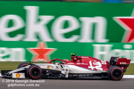 Antonio Giovinazzi (#99) of the Alfa Romeo Racing Formula 1 team out on track during the 2019 Chinese Grand Prix weekend. -------------------------------------------------- Photo taken by me - GDPHOTOS.COM.AU Friday 12 April 19 Canon EOS 6D Mark II EF100-400mm f/4.5-5.6L IS II USM +1.4x III @ 560mm 1/125 sec @ f22 500 ISO Please credit if sharing -------------------------------------------------