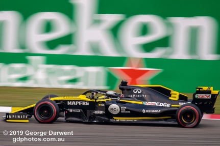 Daniel Ricciardo (#3) of the Renault Formula 1 team out on track during the 2019 Chinese Grand Prix weekend. -------------------------------------------------- Photo taken by me - GDPHOTOS.COM.AU Friday 12 April 19 Canon EOS 6D Mark II EF100-400mm f/4.5-5.6L IS II USM +1.4x III @ 560mm 1/125 sec @ f10 100 ISO Please credit if sharing -------------------------------------------------