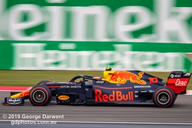 Pierre Gasly (#10) of the Red Bull Formula 1 team out on track during the 2019 Chinese Grand Prix weekend. -------------------------------------------------- Photo taken by me - GDPHOTOS.COM.AU Friday 12 April 19 Canon EOS 6D Mark II EF100-400mm f/4.5-5.6L IS II USM +1.4x III @ 560mm 1/125 sec @ f9 100 ISO Please credit if sharing -------------------------------------------------