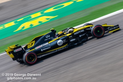 Nico Hulkenberg (#27) of the Renault Formula 1 team out on track during the 2019 Chinese Grand Prix weekend. -------------------------------------------------- Photo taken by me - GDPHOTOS.COM.AU Friday 12 April 19 Canon EOS 6D Mark II EF100-400mm f/4.5-5.6L IS II USM +1.4x III @ 379mm 1/80 sec @ f29 500 ISO Please credit if sharing -------------------------------------------------