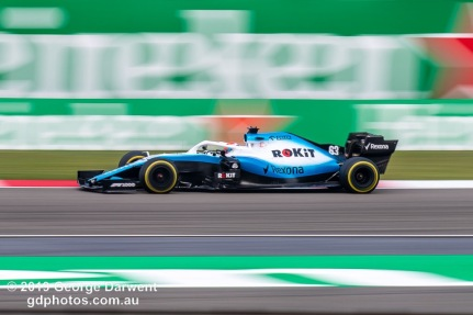 George Russell (#63) of the Williams Formula 1 team out on track during the 2019 Chinese Grand Prix weekend. -------------------------------------------------- Photo taken by me - GDPHOTOS.COM.AU Friday 12 April 19 Canon EOS 6D Mark II EF100-400mm f/4.5-5.6L IS II USM +1.4x III @ 358mm 1/50 sec @ f16 100 ISO Please credit if sharing -------------------------------------------------