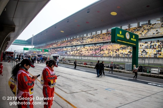 Pitlane Race Day - Chinese Grand Prix 2019 -------------------------------------------------- Photo taken by me - GDPHOTOS.COM.AU Sunday 14 April 19 Canon EOS 6D Mark II EF24-105mm f/4L IS USM @ 24mm 1/500 sec @ f10 800 ISO Please credit if sharing -------------------------------------------------