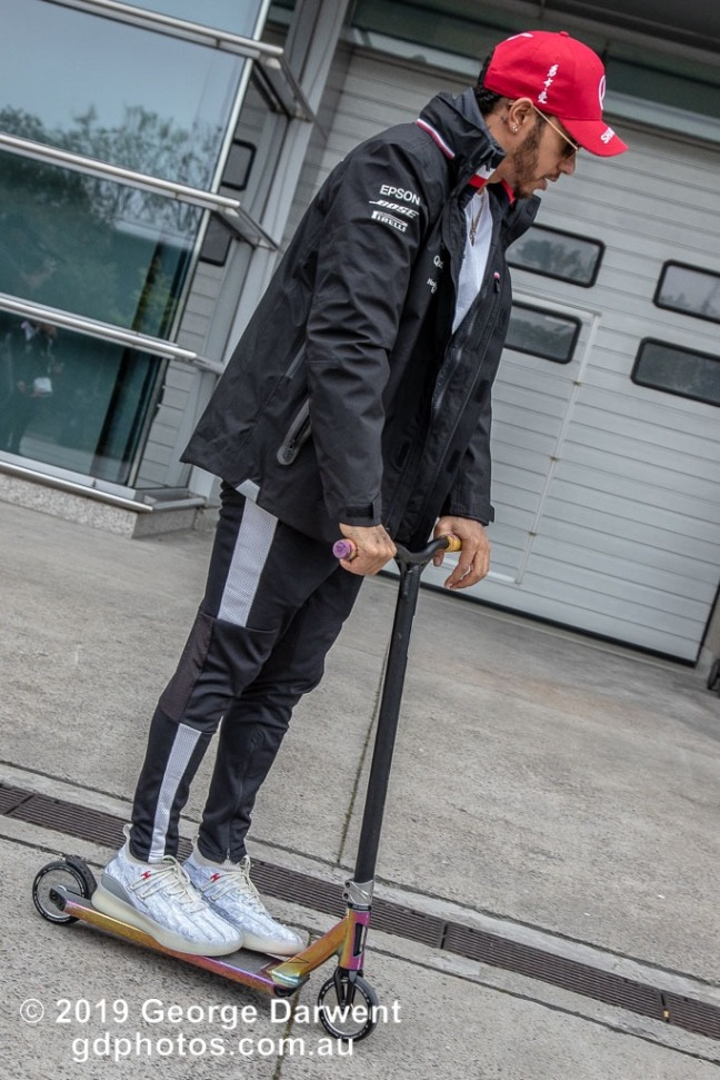 Lewis Hamilton (#44) of the Mercedes Formula 1 team in the paddock on Sunday of the 2019 Chinese Grand Prix weekend. -------------------------------------------------- Photo taken by me - GDPHOTOS.COM.AU Sunday 14 April 19 Canon EOS 6D Mark II EF24-105mm f/4L IS USM @ 50mm 1/500 sec @ f7 800 ISO Please credit if sharing -------------------------------------------------