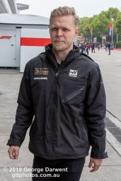 Kevin Magnussen (#20) of the Haas Formula 1 team in the paddock on Sunday of the 2019 Chinese Grand Prix weekend. -------------------------------------------------- Photo taken by me - GDPHOTOS.COM.AU Sunday 14 April 19 Canon EOS 6D Mark II EF24-105mm f/4L IS USM @ 35mm 1/500 sec @ f10 800 ISO Please credit if sharing -------------------------------------------------