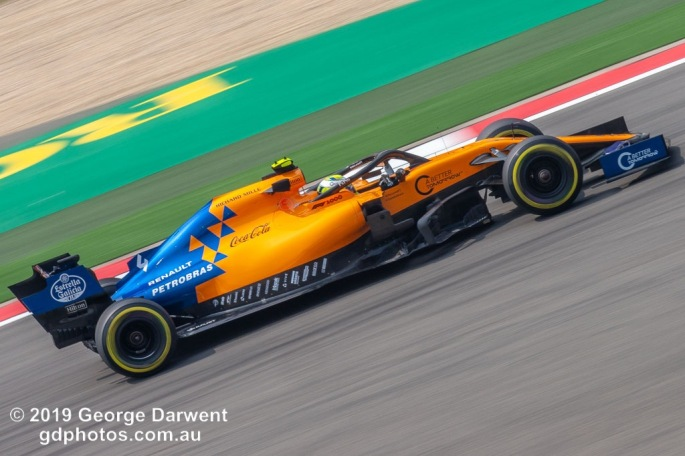 Lando Norris (#4 ) of the McLaren Formula 1 team out on track during the 2019 Chinese Grand Prix weekend. -------------------------------------------------- Photo taken by me - GDPHOTOS.COM.AU Friday 12 April 19 Canon EOS 6D Mark II EF100-400mm f/4.5-5.6L IS II USM +1.4x III @ 379mm 1/80 sec @ f32 500 ISO Please credit if sharing -------------------------------------------------