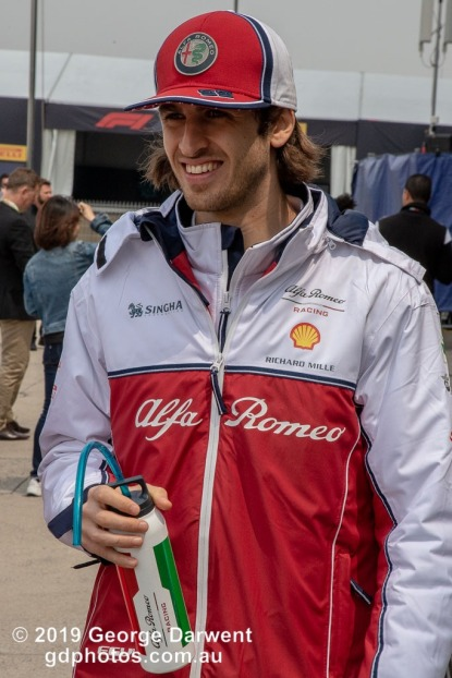 Antonio Giovinazzi (#99) of the Alfa Romeo Racing Formula 1 team in the paddock on Sunday of the 2019 Chinese Grand Prix weekend. -------------------------------------------------- Photo taken by me - GDPHOTOS.COM.AU Sunday 14 April 19 Canon EOS 6D Mark II EF24-105mm f/4L IS USM @ 93mm 1/500 sec @ f16 800 ISO Please credit if sharing -------------------------------------------------