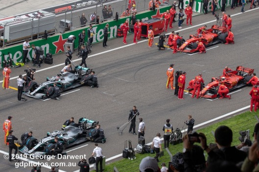 Top four on the grid before the 2019 Chinese Grand Prix weekend. -------------------------------------------------- Photo taken by me - GDPHOTOS.COM.AU Sunday 14 April 19 Canon EOS 6D Mark II EF100-400mm f/4.5-5.6L IS II USM @ 158mm 1/500 sec @ f11 800 ISO Please credit if sharing -------------------------------------------------