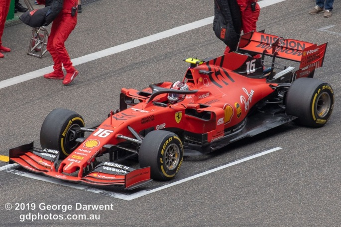 Charles Leclerc (#16) of the Ferrari Formula 1 team out on track during the 2019 Chinese Grand Prix weekend. -------------------------------------------------- Photo taken by me - GDPHOTOS.COM.AU Sunday 14 April 19 Canon EOS 6D Mark II EF100-400mm f/4.5-5.6L IS II USM @ 400mm 1/500 sec @ f11 800 ISO Please credit if sharing -------------------------------------------------