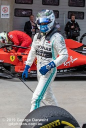 Valtteri Bottas (#77) of the Mercedes Formula 1 team in parc ferme follwing the 2019 Chinese Grand Prix weekend. -------------------------------------------------- Photo taken by me - GDPHOTOS.COM.AU Sunday 14 April 19 Canon EOS 6D Mark II EF24-105mm f/4L IS USM @ 32mm 1/640 sec @ f7 800 ISO Please credit if sharing -------------------------------------------------
