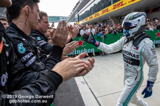 Valtteri Bottas (#77) of the Mercedes Formula 1 team in parc ferme follwing the 2019 Chinese Grand Prix weekend. -------------------------------------------------- Photo taken by me - GDPHOTOS.COM.AU Sunday 14 April 19 Canon EOS 6D Mark II EF24-105mm f/4L IS USM @ 28mm 1/640 sec @ f7 800 ISO Please credit if sharing -------------------------------------------------