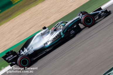 Lewis Hamilton (#44) of the Mercedes Formula 1 team out on track during the 2019 Chinese Grand Prix weekend. -------------------------------------------------- Photo taken by me - GDPHOTOS.COM.AU Friday 12 April 19 Canon EOS 6D Mark II EF100-400mm f/4.5-5.6L IS II USM +1.4x III @ 379mm 1/80 sec @ f32 500 ISO Please credit if sharing -------------------------------------------------
