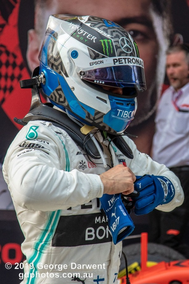 Valtteri Bottas (#77) of the Mercedes Formula 1 team in parc ferme follwing the 2019 Chinese Grand Prix weekend. -------------------------------------------------- Photo taken by me - GDPHOTOS.COM.AU Sunday 14 April 19 Canon EOS 6D Mark II EF24-105mm f/4L IS USM @ 105mm 1/640 sec @ f7 800 ISO Please credit if sharing -------------------------------------------------